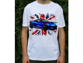Dětské a pánské tričko s autem Jaguar