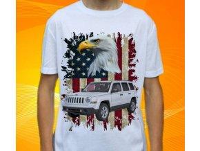 Dětské a pánské tričko s autem Jeep Patriot