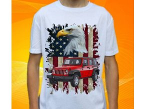 Dětské a pánské tričko s autem Jeep Wrangler Long