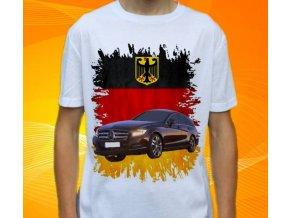 Dětské a pánské tričko s autem Mercedes Benz CLS350