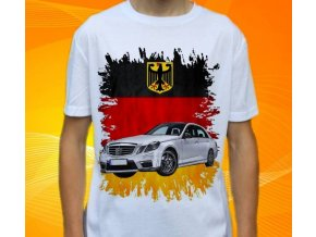 Dětské a pánské tričko s autem Mercedes Benz E63 AMG