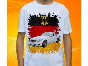 Dětské a pánské tričko s autem Mercedes Benz S221