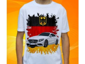 Dětské a pánské tričko s autem Mercedes Benz S500 Coupe