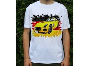 Dětské a pánské tričko s autem Mercedes Benz