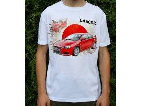 tričko s autem Mitsubishi Lancer