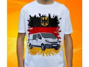 Dětské a pánské tričko s autem Opel Vivaro