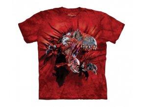 tričko, dinosaurus, t-rex trhající tričko, potisk, mountain, dětské
