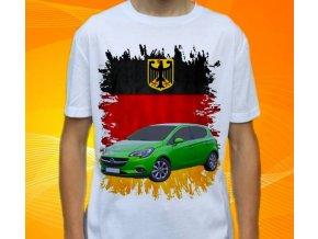 Dětské a pánské tričko s autem Opel Corsa 2011