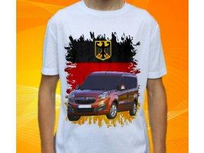 Dětské a pánské tričko s autem Opel Combo 2015