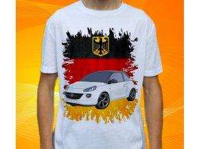 Dětské a pánské tričko s autem Opel Adam