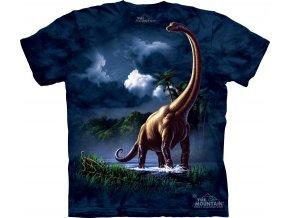 dětské tričko-bavlněné-batikované-potisk-dinosaurus-brachiosaurus
