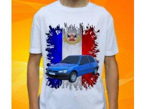 Dětské a pánské tričko s autem Peugeot 106