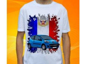 Dětské a pánské tričko s autem Peugeot 107