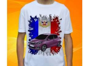 Dětské a pánské tričko s autem Peugeot 108