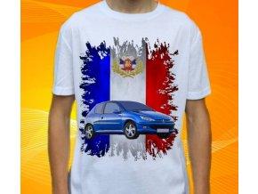 Dětské a pánské tričko s autem Peugeot 206