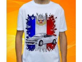 Dětské a pánské tričko s autem Peugeot 206 CC