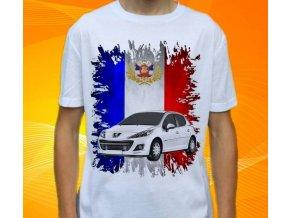 Dětské a pánské tričko s autem Peugeot 207