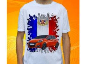 Dětské a pánské tričko s autem Peugeot 208