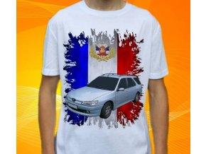 Dětské a pánské tričko s autem Peugeot 306 Combi