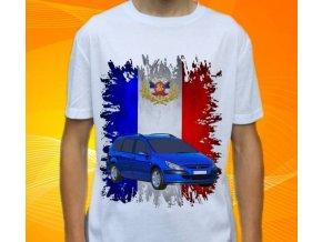 Dětské a pánské tričko s autem Peugeot 307 SW 2005