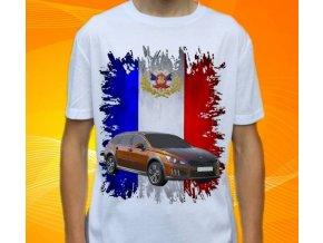 Dětské a pánské tričko s autem Peugeot 508 RXH