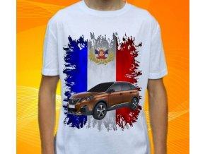 Dětské a pánské tričko s autem Peugeot 3008