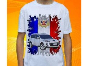 Dětské a pánské tričko s autem Peugeot 4007