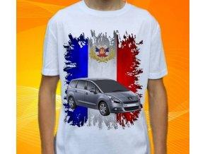 Dětské a pánské tričko s autem Peugeot 5008