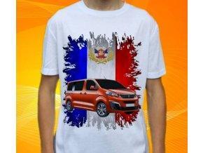 Dětské a pánské tričko s autem Peugeot Traveller