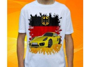 tričko s autem Porsche Cayman GTS
