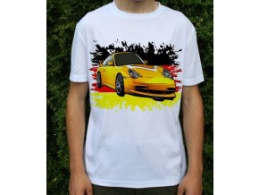 tričko s autem Porsche