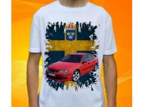 tričko s autem Saab 9-3