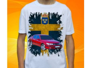 tričko s autem Saab 9-5