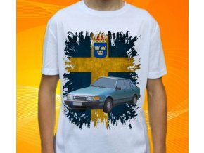 tričko s autem Saab 9000