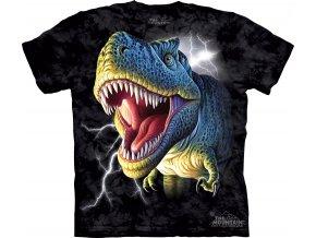 tričko, dinosaurus, t-rex, potisk, bouře, dětské