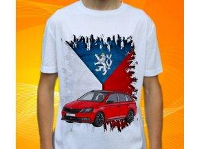 Dětské a pánské tričko s autem Škoda Fabia Combi Monte Carlo