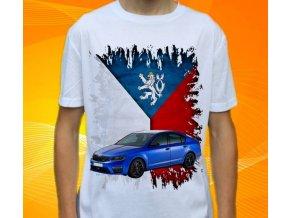 Dětské a pánské tričko s autem Škoda Octavia RS