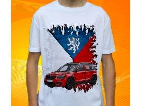 Dětské a pánské tričko s autem Škoda Yeti Monte Carlo