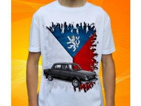 Dětské a pánské tričko s autem Škoda 100