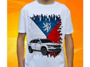 Dětské a pánské tričko s autem Škoda Kodiaq