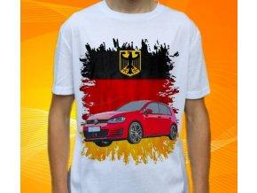 tričko s autem Volkswagen Golf GTD