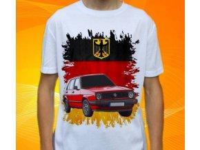 tričko s autem Volkswagen Golf MKI 1983