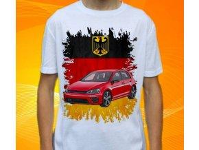 tričko s autem Volkswagen Golf New