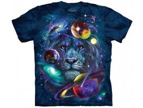 tričko, galaxie, lev, potisk, mountain, dětské
