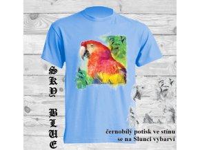 tricko natural hlava papouska