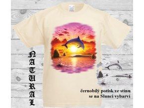 delfin slunce natural tričko uv potisk