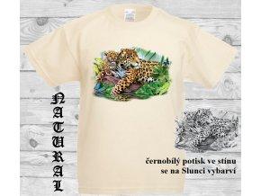 jaguari natural tričko menici potisk