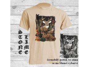 jelen natural tričko uv potisk