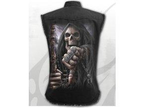 košile spiral s motivem smrti