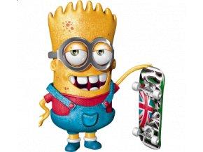 pánské, 3D, tričko, potisk, vtipné, scateboard, Bart Simpson